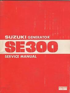 1981 SUZUKI SE300 GENERATOR SERVICE MANUAL P/N SR-4001-E-03 (105)
