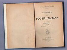 antologia della poesia italiana - ottaviano targioni tozzetti -  1920