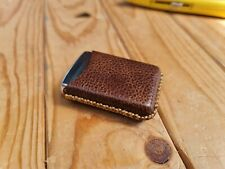 More details for handmade leather zippo lighter pouch holder case gift outdoors