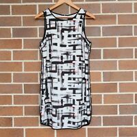 TOKITO Women's Casual Dress Size 10 Black White Sleeveless Knee Length