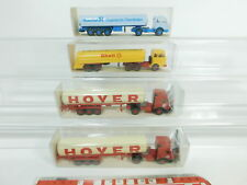 bd340-0,5 #4x Wiking H0 / 1:87 CAMION MB : 786 HOYER + 802 SHELL + 825