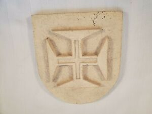 Templar Clay Ceramic Wall Plaque ~ Escudo Cruz de Cristo ~ Christ's Cross Shield
