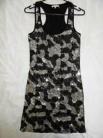 Valleygirl BNWOT Sequin Long Top or Short Dress Racer Back - Sz S (8-10)