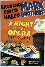 A Night at the Opera Vintage Groucho and the Marx Brothers Movie Poster