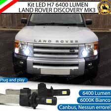 KIT LED H7 LAND ROVER DISCOVERY MK3 6000K 6400 LUMEN CANBUS ABBAGLIANTI