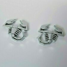2 Chrome 3D Metal Scorpions Badges Stickers for Saab 9-3 9-5 93 95 900 9000 Car