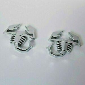 2 Chrom 3D Metall Scorpions Kennzeichen Aufkleber für Honda Accord Civic Cr-Z