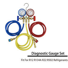 A/C HVAC R12/R134A R22 R502 Diagnostic Manifold Gauge Set Quick Coupler& 5ftHose