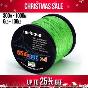 ReelBoss Green Braid Fishing Line 8lb 10lb 12lb 15 20lb 30lb 50lb 150m 300m 500m