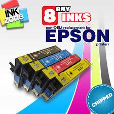 Any 8 non-OEM Ink for Epson XP-30 XP-102 XP-202 XP-205 XP-212 XP-215 XP-225