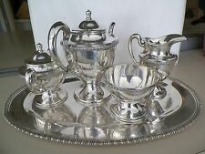 VNTG MEXICAN STERLING SILVER 5PC TEA/COFFEE SERVICE VG