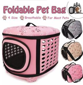 Collapsible, Pet Carrier, Zipper Closure, Easy Storage, Dog, Cat, Small Pet
