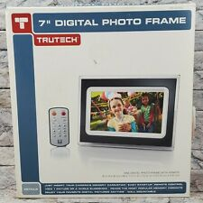 "7"" Tall DIGITAL Wall PHOTO FRAME w/ Remote Control & Original 2007 TRUTECH BOX"