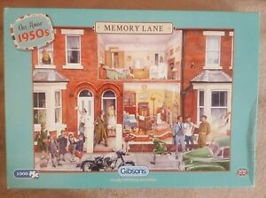 GIBSONS - MEMORY LANE - OUR HOUSE 1950s - 1000 PIECE JIGSAW