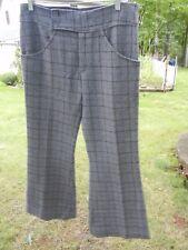 Vintage Women's Gray Hip Hugger Bell Bottom Bonded Wool Pants. Lovely for Fall!!