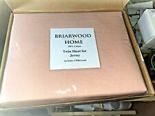 Briarwood Home Luxury Jersey Sheet Set- Extra Soft 100% Cotton (Twin|Peach)