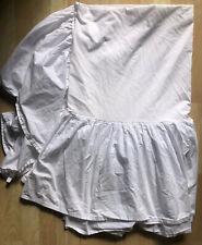 "Rachel Ashwell Simply Shabby Chic Gathered Twin White Dust Ruffle 15"" Drop"