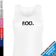 Ladies Little Boo Vest • Tank Top Girls Funny Cute Halloween Top Party Outfit