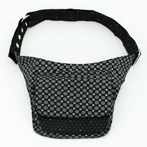 Gürteltasche Nijens Sidebag Bauchtasche Hüfttasche Grau Weiß Dublin Baumwolle
