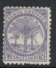 SAMOA  1886-99  2/6 SLATE VIOLET  PALM TREES  MLH   P11   SG 64c