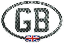 GB Carbon Brickwork Gel Domed CAR STICKER with Union Jack 150mm X 100mm
