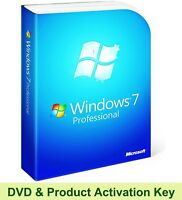 Windows 7 Professional 64 Bit Product Key & Disc Boot Re-Install Repair Recovery