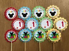 Mouse Funhouse Personalised Cupcake Toppers~suit Mickey Birthday, Baby Shower