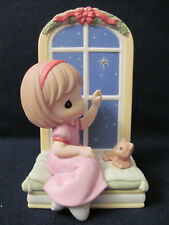 New Precious Moments # 910017 - Do You See What I See ~Girl w/Cat gazing at Star