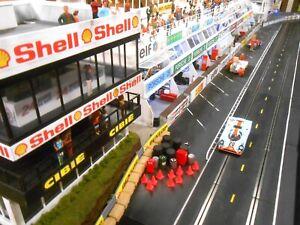 1/32 Slot Car Scenery 35 Piece UNPAINTED Le Mans Pit Detail Set Scalextric  SCX