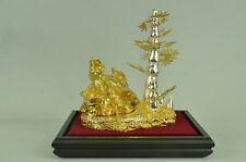 CLEARANCE SALE  Shelf Display 24K Gold Plated Bronze Sculpture Statue