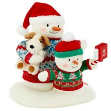 Cozy Christmas Selfie Snowman 2020 Singing Stuffed Animal With Light and Motion,