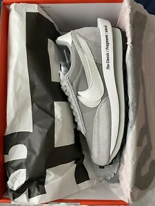 Nike Sacai Fragment LD Waffle SF Light Smoke Grey White Blue DH2684-001 Size 6