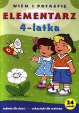 Elementarz 4-Latka dla dzieci  / Polish book Miekka oprawa