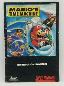 Mario's Time Machine (Super Nintendo, 1993) INSTRUCTION BOOKLET, SNS-8M-USA