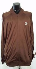 Adidas Tracksuit Top Windbreaker Jacket Firebird F1 Retro Tan Brown XL Vintage