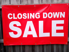 Closing Down Sale Choice Option PVC Vinyl Banner Flag 1300x800mm FastDelivery