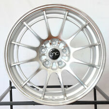 "4-New 18"" JNC 033 JNC033 Wheels 18x8.5 5x114.3 35 Silver Machine Face Rims"