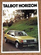 1980-81 Talbot Horizon folleto de ventas-SX GLS GL LS - 1.1 1.3 1.5