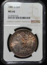 1881-S $1 Morgan Silver Dollar MS-66 NGC. Free Shipping MDP48