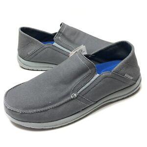 Crocs Santa Cruz Convertible Gray Mens Slip-on Triple Comfort Shoes Size 11