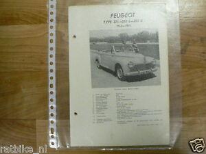 PE02-PEUGEOT TYPE 203, 203L, 203U 1953-1955 -INFO