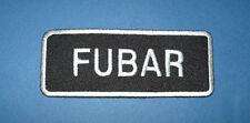 `FUBAR` SEW OR IRON ON PATCH