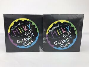 Official Milky Gear Gel Roller Cube Brand Paper Lot of (2) Vtg 1999