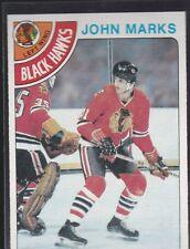 1978-79 TOPPS HOCKEY JOHN MARKS #157 BLACK HAWKS NMMT/MINT *54818