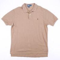 Vintage POLO RALPH LAUREN  Brown 00s Short Sleeve Polo Shirt Mens XL