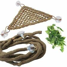 New listing Pivby Bearded Dragon Hammock Jungle Climber Vines Flexible Reptile Leaves with S