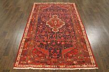 VINTAGE Tradizionale Persiano Lana 4 x 6.6 Oriental tappeto fatto a mano Tappeto Tappetini