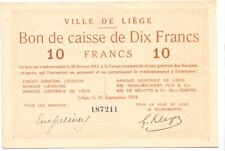 Liege  10 francs