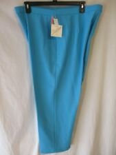 Lasting Comfort Polyester PLUS 40 Waist  Aqua Pull On Flat Dress Pants NEW w/Tag