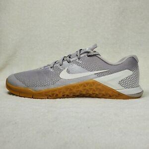 Nike Metcon 4 Atmosphere Vast Grey Gum Training Mens 12 Shoes AH7453-007 Defect